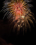 Fireworks. Up in the sky Royalty Free Stock Photos