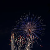 Fireworks. Up in the sky on the eve of 4th of July Royalty Free Stock Images