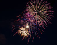 Fireworks. Up in the sky on the eve of 4th of July Royalty Free Stock Photos