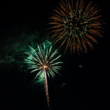 Fireworks. Up in the sky on the eve of 4th of July Royalty Free Stock Photo