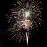 Fireworks. Up in the sky on the eve of 4th July Stock Images