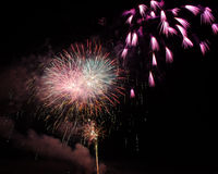 Fireworks. Up in the sky on the eve of 4th July Royalty Free Stock Photo