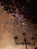 Fireworks in Valencia Spain during Fallas royalty free stock photos