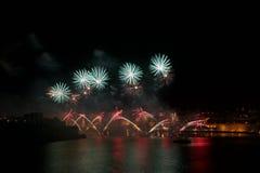 Fireworks in Valletta fireworks festival, Malta fireworks festival, 4 of July, Independence day, New Year Stock Images