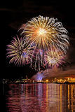 Fireworks. In Vancouver, British Columbia, Canada stock photography