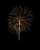 Fireworks of various colors isolated on black Stock Images