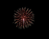 Fireworks of various colors isolated on black Stock Photography