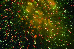 Fireworks of various colors. Over night sky Royalty Free Stock Photography
