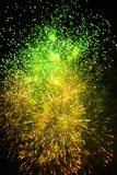 Fireworks of various colors. Over night sky Stock Photo