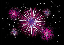 Fireworks vector Royalty Free Stock Photo