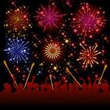 Fireworks vector Stock Image