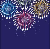 Fireworks. Vector background Royalty Free Stock Image