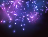 Fireworks vector background. EPS10. Holiday fireworks vector background. Can be used for New Year party or Christmas greeting cards. EPS10 Stock Photo