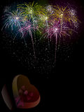 Fireworks vector celebration background Stock Photos