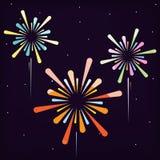 Fireworks vector design for festival. Royalty Free Stock Images