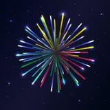 Fireworks. Vector design illustration festival Stock Photo