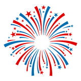 Fireworks Vector Icon Royalty Free Stock Photography