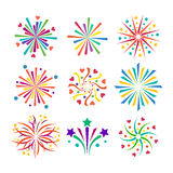 Fireworks vector icon  Royalty Free Stock Image
