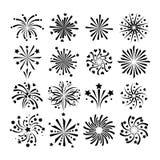 Fireworks vector icon  Stock Photo