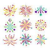 Fireworks vector icon  Stock Image