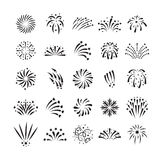 Fireworks vector icon royalty free illustration