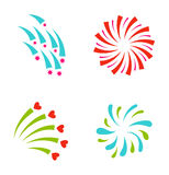 Fireworks vector icon isolated Stock Image