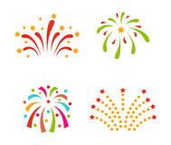 Fireworks vector icon isolated Royalty Free Stock Images