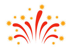 Fireworks vector icon isolated Stock Photo