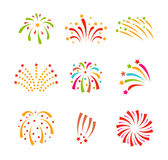 Fireworks vector icon isolated Stock Photography