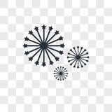Fireworks vector icon isolated on transparent background, Fireworks logo design. Fireworks vector icon isolated on transparent background, Fireworks logo concept Royalty Free Stock Photography