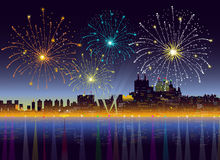 Fireworks - Vector. Fireworks is a  illustration Royalty Free Stock Photos