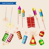 Fireworks Vector illustration Stock Photos