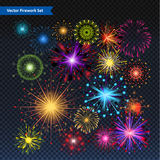 Fireworks Vector illustration. Available in high-resolution and several sizes to fit the needs of your project.nEditable file included in .EPS Vector format Stock Photo