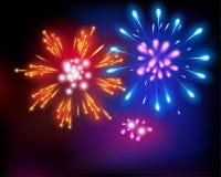 Fireworks. Vector illustration. Royalty Free Stock Image