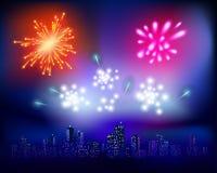 Fireworks. Vector illustration Stock Image