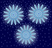 Fireworks, Vector illustration. Salute. On a blue background Stock Image