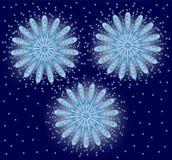 Fireworks, Vector illustration. Salute. On a blue background Stock Image