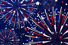 Free Fireworks Vector In Color Of Blue White And Red Stock Image - 149549021