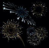 Fireworks vector set Stock Images
