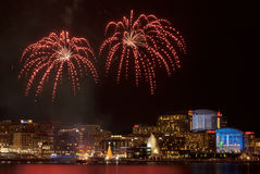 Fireworks Washington DC National Harbor Royalty Free Stock Photo