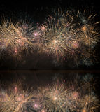 Fireworks on the water Stock Image