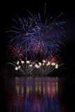 Fireworks on the water - Ignis Brunensis Royalty Free Stock Photos