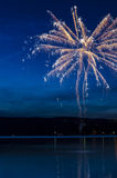 Fireworks on the water Royalty Free Stock Photography