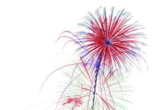 Fireworks on White Background. With room for ad copy