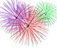 Fireworks on White Background Royalty Free Stock Images