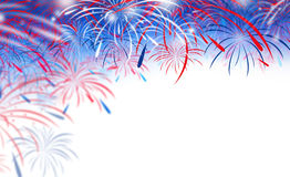 Fireworks on white background. With copy space Royalty Free Stock Image