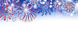 Fireworks on white background Stock Images