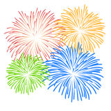 Fireworks on white background  illustration Royalty Free Stock Photography