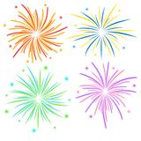 Fireworks on white background, stock vector illustration. Eps 10 royalty free illustration