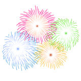 Fireworks on white background vector illustration Stock Illustration